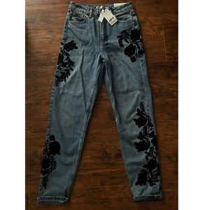 Topshop floral jeans. never been worn, have tags